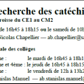 CATECHISTES